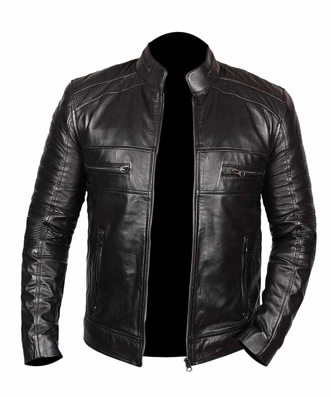Johnson Black Genuine Leather Jacket - Leather Jacket Black