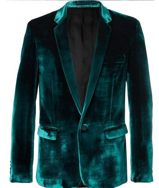 Ewan McGregor Blue Blazer Velvet Coat