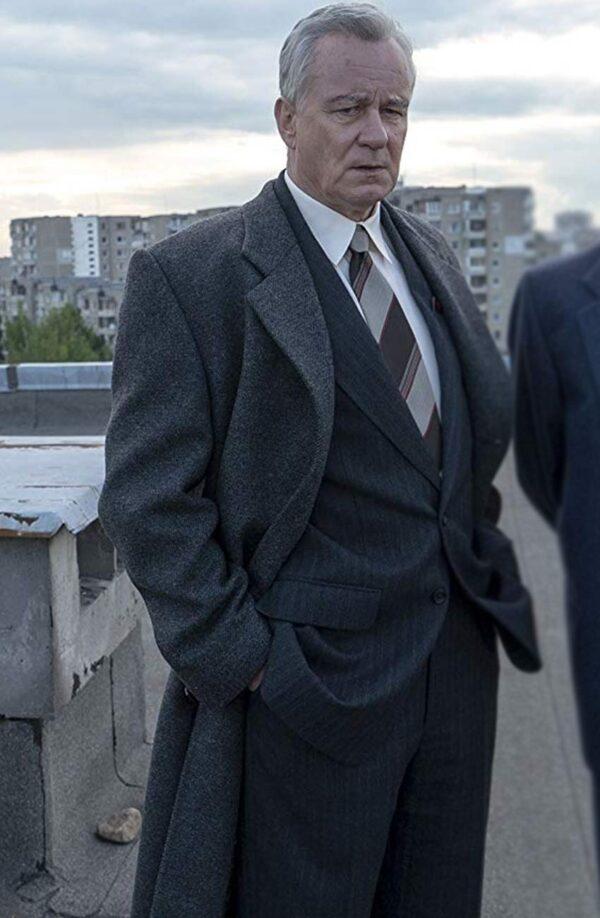 Stellan Skarsgård Chernobyl Black Trench Coat