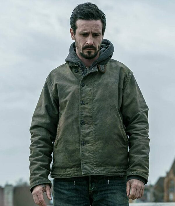 Captive State James Ransone Cotton Green Jacket