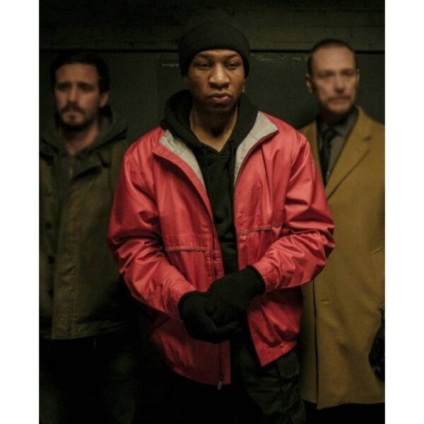 Jonathan Majors Captive State Red Parachute Jacket