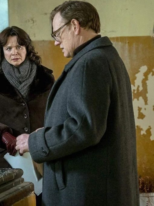 Legasov Black Chernobyl Valery Wool Coat