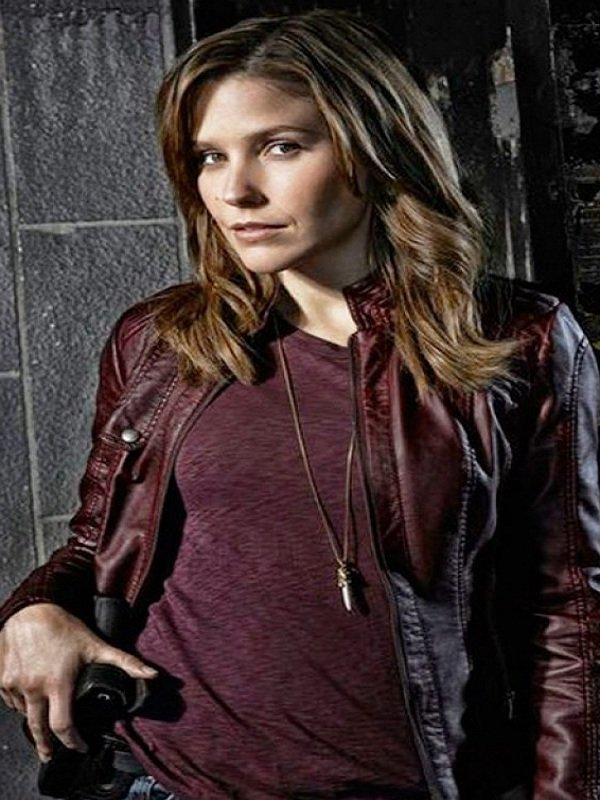Sophia Bush Chicago PD Maroon Jacket