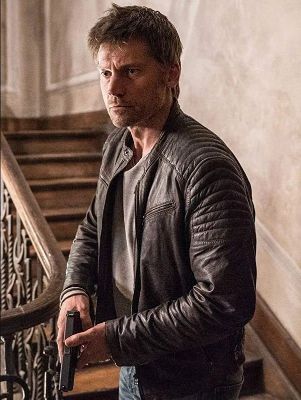 Nikolaj Coster-Waldau Brown Leather Jacket