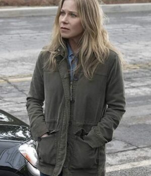 Jen Harding Tv Series Dead to Me Christina Applegate Green Cotton Jacket