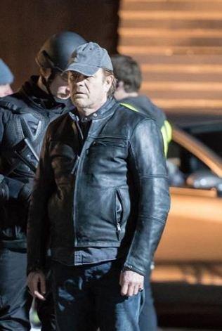 Sean Bean Curfew TV Series Black Leather Jacket