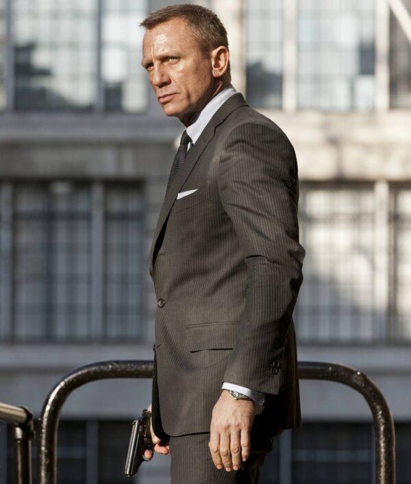 Skyfall Daniel Craig Charcoal Grey Suit