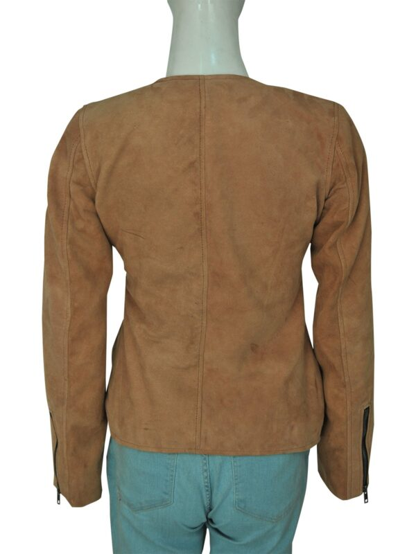 Dead to Me Linda CardelliniBrown Suede Leather Jacket