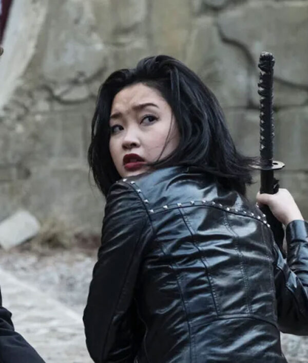 Deadly Class Saya Kuroki Black Leather Jacket