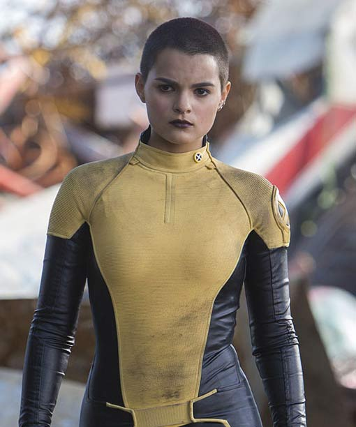 Deadpool Brianna Hildebrand Yellow and Black Jacket