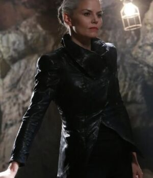 Jennifer Morrison Emma Swan Black Leather Jacket