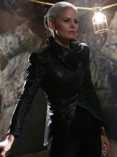Jennifer Morrison Emma Swan Black Leather Jacket