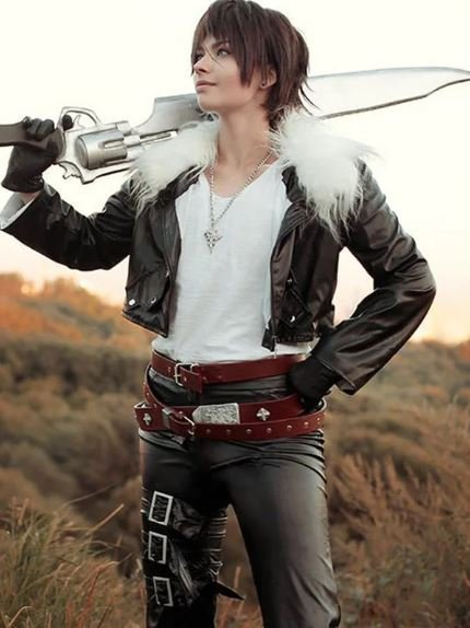 Squall Leonhart Final Fantasy 8 Black Jacket