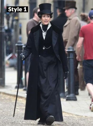 Gentleman Jack Suranne Jones Black Long Coat