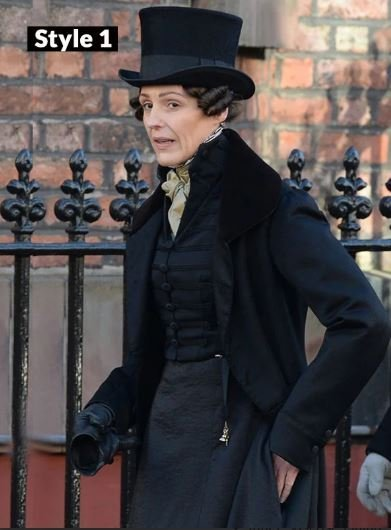Gentleman Jack Suranne Jones Long Black Coat