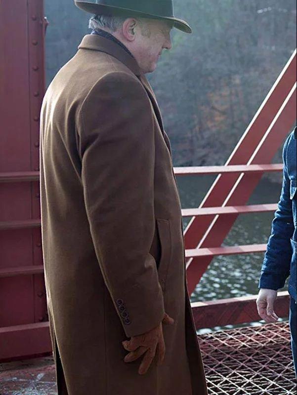 Gotham Carmine Falcone Trench Brown Coat