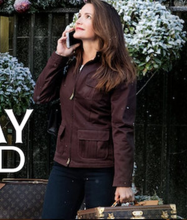 Kristin Davis Holiday In The Wild Brown Jacket