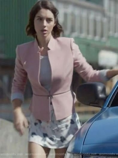 Adelaide Kane Cotton Pink Jacket