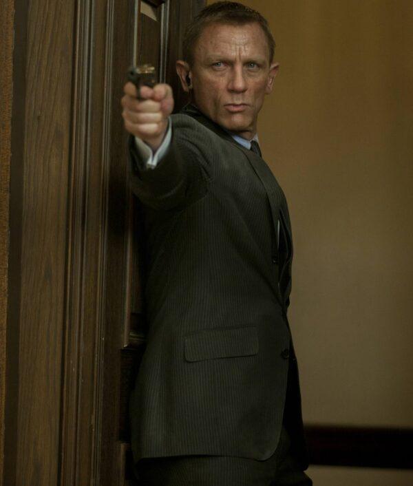 Skyfall James Bond Charcoal Cotton Suit