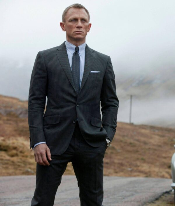 Skyfall James Bond Charcoal Grey Suit
