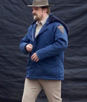 Stranger Things Jim Hopper Shearling Jacket
