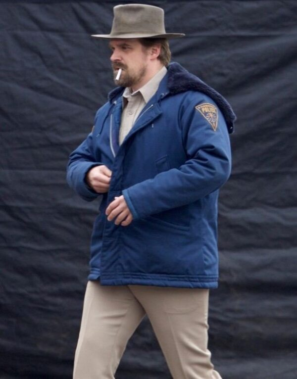 Stranger Things Jim Hopper Shearling Jacket