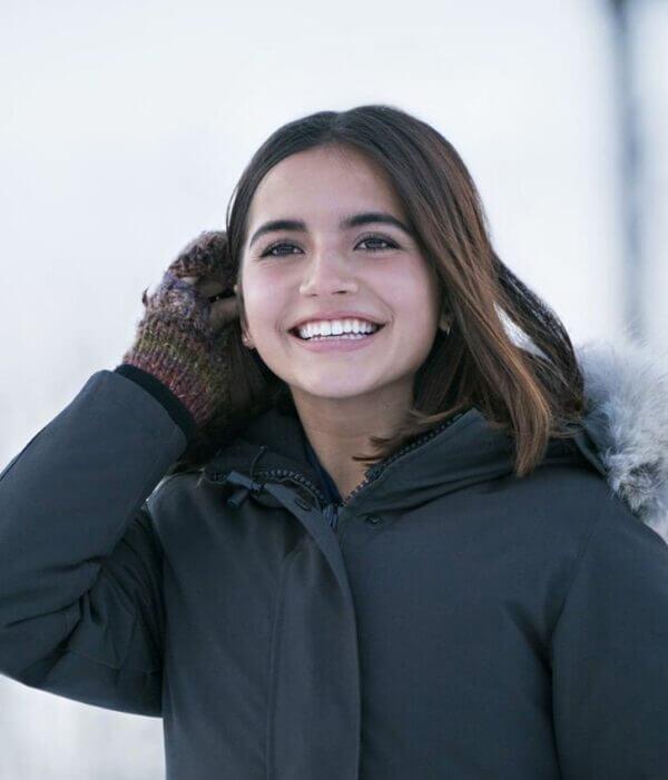 Julie Let It Snow Isabela Merced Coat1