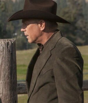 Yellowstone Kevin Costner Corduroy Brown Blazer