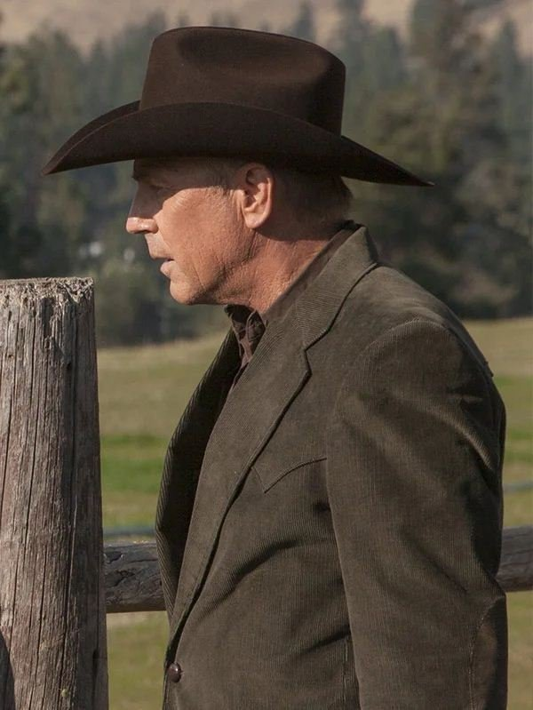 Yellowstone Kevin Costner Corduroy Brown Blazer