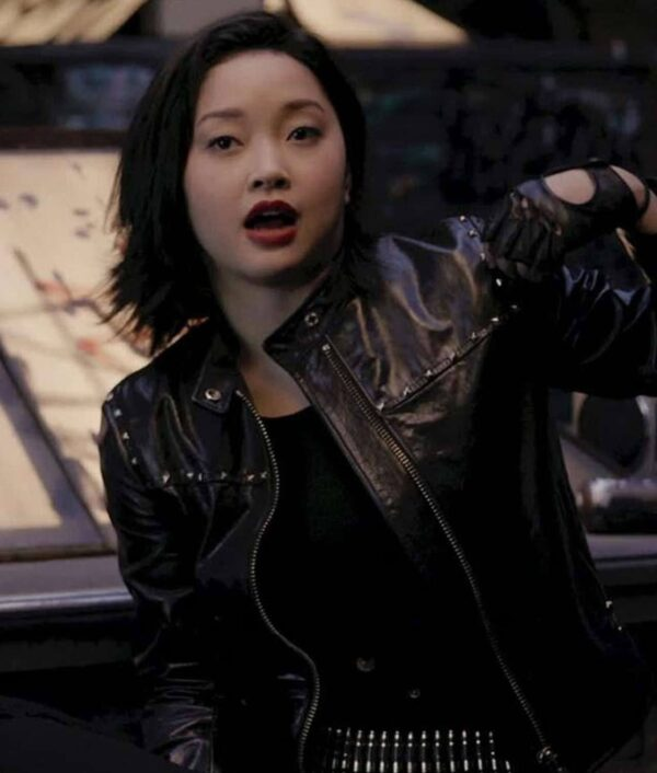 Saya Kuroki Black Leather Jacket