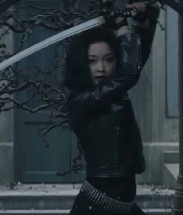 Saya Kuroki Deadly Class Black Leather Studded Jacket