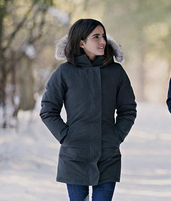 Julie Let It Snow Cotton Grey Coat
