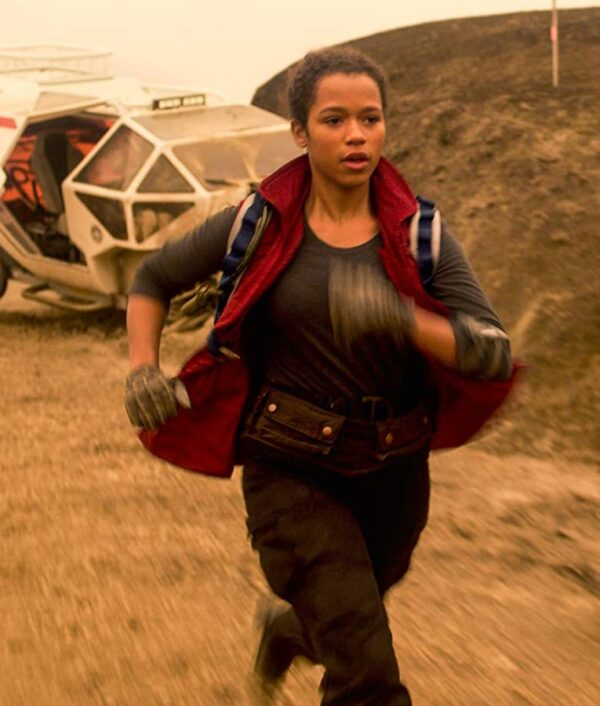 Taylor Russell Lost In Space S02 Red Vest
