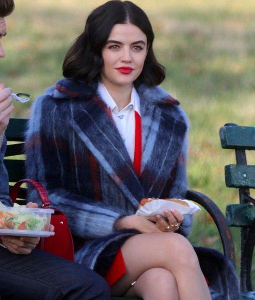 Katy Keene Lucy Hale Wool Checked Coat
