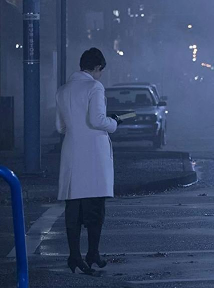 Ginnifer Goodwin Once Upon a Time White Leather Coat