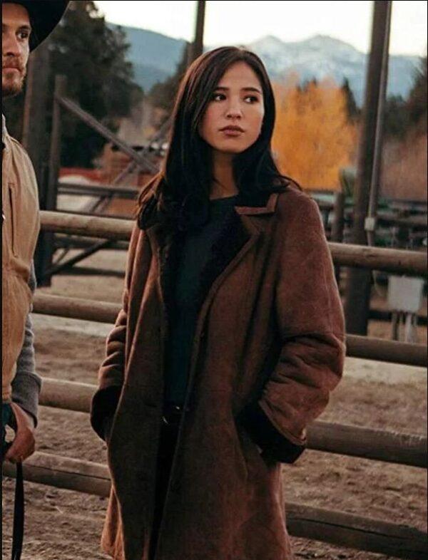 Monica Dutton Yellowstone Brown Coat