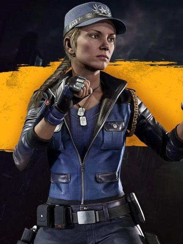 Sonya Blade Mortal Kombat 11 Blue Jacket