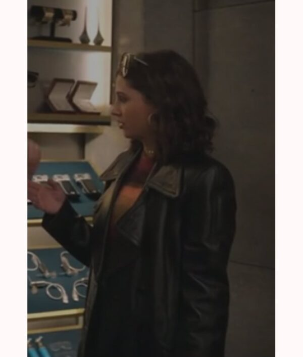 Charlies Angles Naomi Scott Black Coat