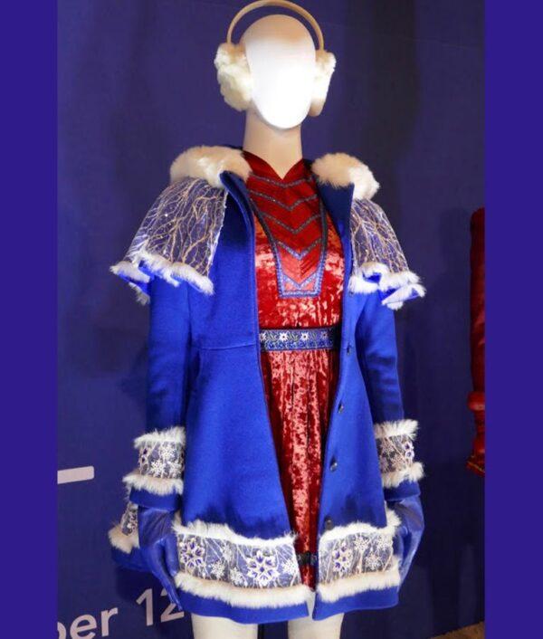 Noelle Kringle Noelle Blue Wool Coat