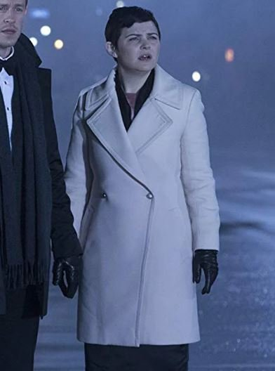 Once Upon a Time Ginnifer Goodwin White Leather Coat