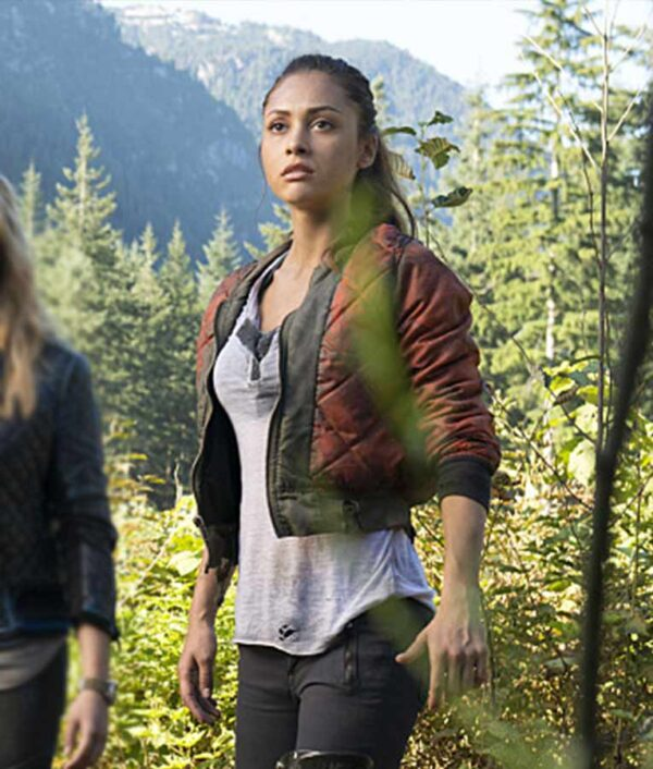 The 100 Raven Reyes Satin Jacket