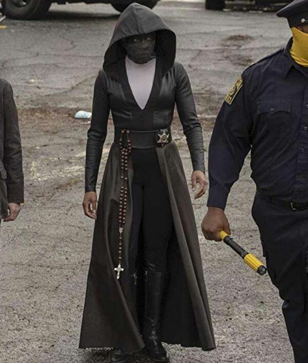 TV Series Watchmen Regina King Black Coat