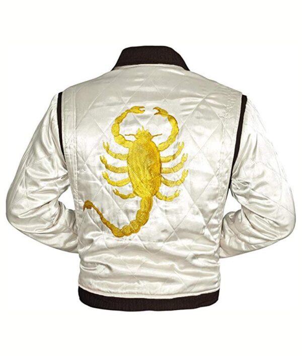 Drive Ryan Gosling White Scorpion Jacket