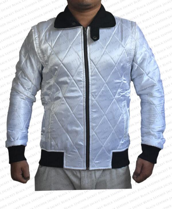 Ryan Gosling Satin Scorpion Drive Jacket Front