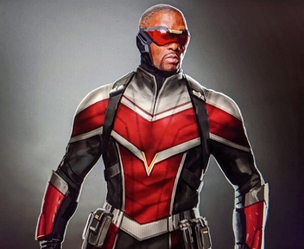 Anthony Mackie The Falcon Red and Black Jacket