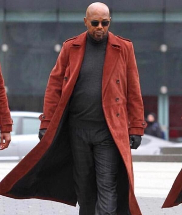 Shaft Samuel L. Jackson Trench Brown Coat