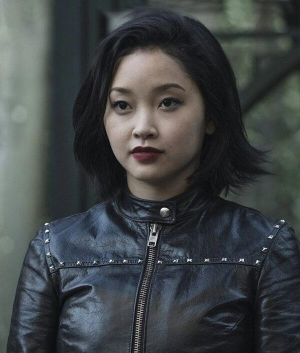 Deadly Class-Black Leather Saya Kuroki Black Jacket Jacket