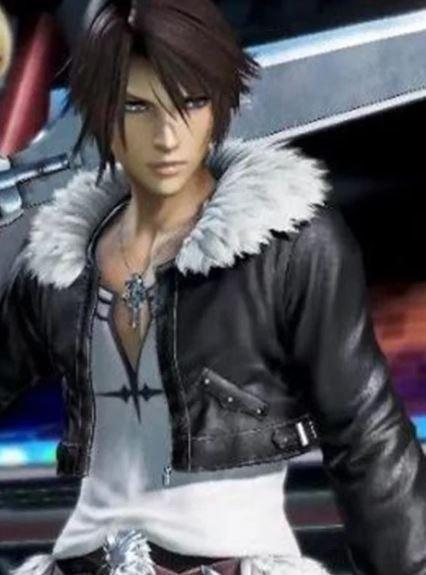 Squall Leonhart Final Fantasy 8 Fur Collar Black Jacket