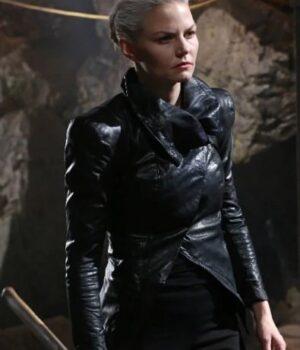 TV Series Once Upon a Time Jennifer Morrison Black Leather Jacket
