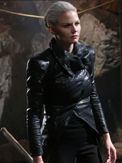 TV Series Once Upon a Time Jennifer Morrison Black Leather Jacket